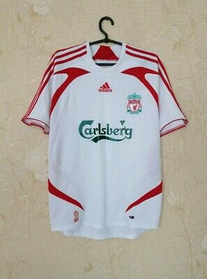 Liverpool 2007 - 2008 Away Football Soccer Shirt Jersey Adidas Size S • 21.28£