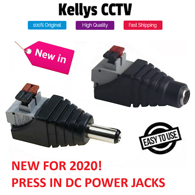 12V DC Male Female Power Balun Connector Cable Adapter Jack Plug For CCTV CAMERA • 2.49£