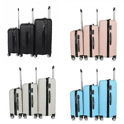 3PCS  20/24/28  Small Large Suitcase Hard Shell Travel Trolley Hand Luggage • 38.99£