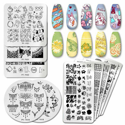 $0.99 • Buy PICT You Nail Stamping Plates Animal Pattern Nail Art Templates Stainless Steel