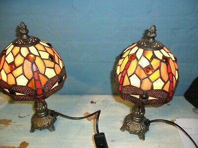 One Tiffany Style Table Lamp Dragonfly Dragon Fly • 39.99£