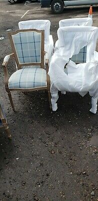 Set Of 4 French Shabby Chic Nordic Style Carver Dining Chairs Brand New  • 699£