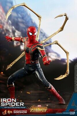 $400 • Buy Hot Toys Avengers: Infinity War Spider-Man! Iron Spider MMS482 1/6 Scale *NIB*