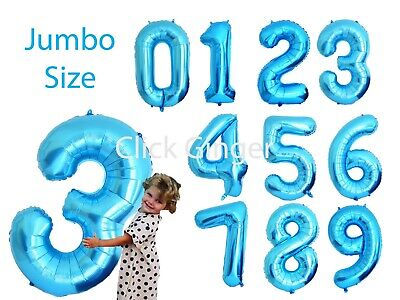 AU3.85 • Buy Jumbo Blue Foil Number Balloons Numbered Balloon Age 21st, 1st Brithday 40