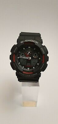 View Details Casio G-Shock Men's Black Resin Strap World Time Watch ~ GA-100-1A4ER ~ NO BOX~ • 69.99£