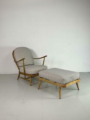 Ercol Windsor Armchair And Footstool Refurb'd Vintage #2879 • 725£