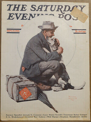 $ CDN30 • Buy September 27 1924 Saturday Evening Post Cover By Norman Rockwell
