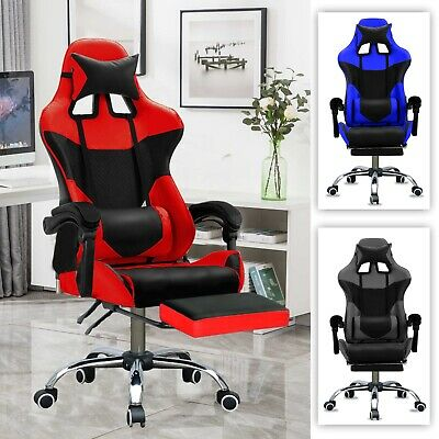 AU139.99 • Buy Gaming Chair Office Executive Computer Chairs PU Leather Seating Racing Recliner