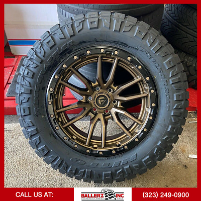 $2999 • Buy 20x10 FUEL REBEL OFFROAD ON 35x12.50r20 M/T TIRES CHEVY FORD 6 LUG FUEL