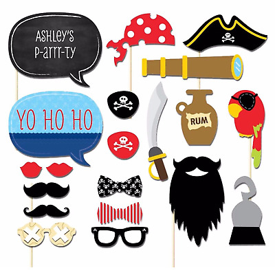 60pcs Hawaiian Luau Tiki Photo Booth Selfie Props Tropical Beach Party Holiday • 4.69£