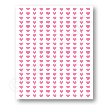 210 Heart Stickers Small 1 Cm For Planners, Scrap Books, Crafts, Wine Glasses • 4£