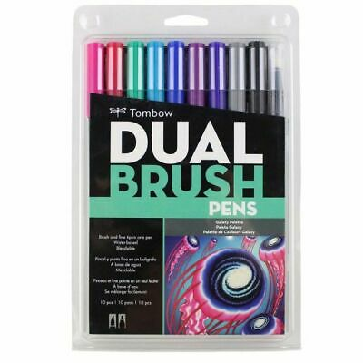 AU34.95 • Buy Tombow Dual Brush Pens Set Of 10 Art Markers Galaxy Palett 56188