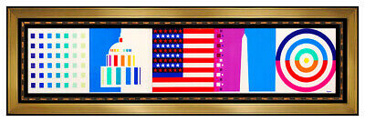$2495 • Buy Yaacov Agam Original Color Agamograph Spirit Of Amerian Signed Op Art Large SBO