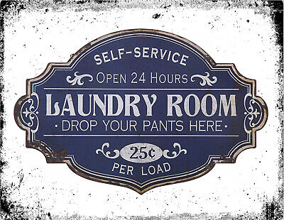 £4.99 • Buy Retro Vintage Laundry Room Washing Launderette Clean Kitchen Wall METAL SIGN