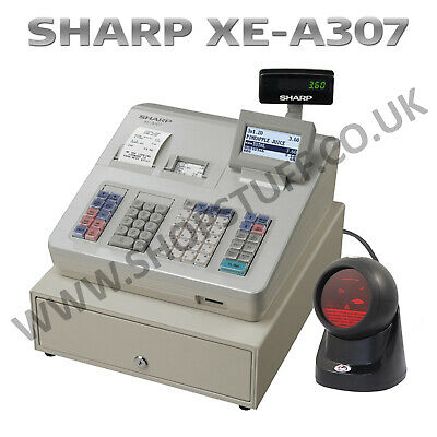 £599.99 • Buy Sharp Xe-a307 Xea307 Cash Register + Wired Multi Beam Barcode Scanner