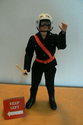 Vintage Action Man Motorcycle Police Outfit Only + Extras (no Figure Included)   • 29.50£