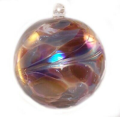 $14.98 • Buy FRIENDSHIP BALL Handcrafted Blown Art Glass July Ornament WitchBall