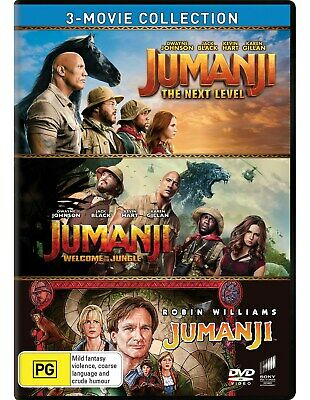 AU33.96 • Buy Jumanji / Welcome To The Jungle / The Next Level Box Set DVD Region 4 NEW