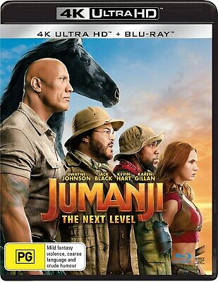 AU26.46 • Buy Jumanji The Next Level 4K Ultra HD Blu-ray UHD Region B NEW