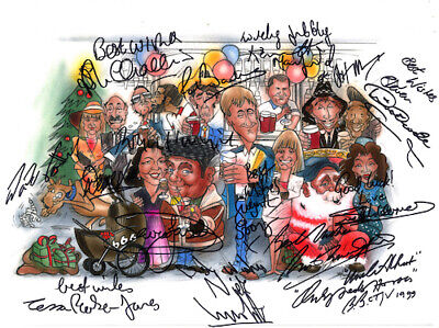 Only Fools And Horses Nags Head Whole Cast Signed Artwork POSTER Pre Print A3 • 7.99£