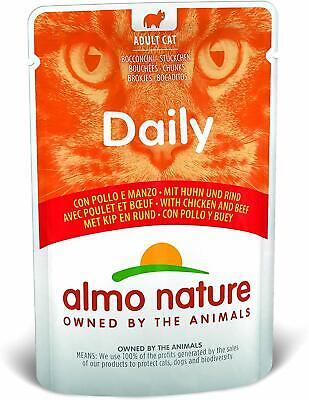 Almo Nature Daily Cat Food With Chicken And Beef, 70 G, Pack Of 30 • 17£