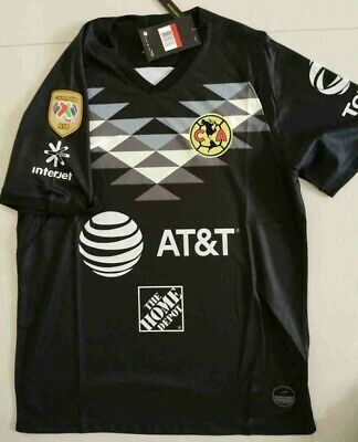 $19.99 • Buy 2019-2020 Club America Second Away Soccer Jersey And A18 LIGA MX CAMPEON Patch