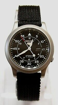 $ CDN121.32 • Buy SNK809K2 SEIKO 5 Military Style Automatic Men's Black Watch Brand New !!
