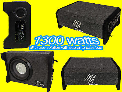 $195.38 • Buy 10 Inch Powered Ported Enclosures Subwoofer Box 1300w Compact Design For All Car