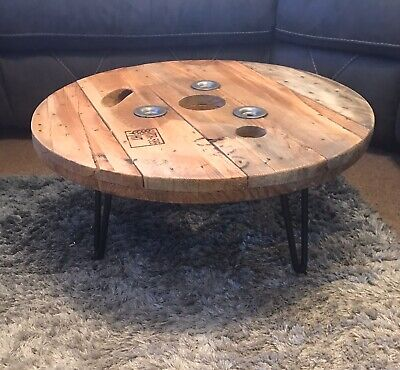 Industrial Cable Drum Coffee Table • 70£
