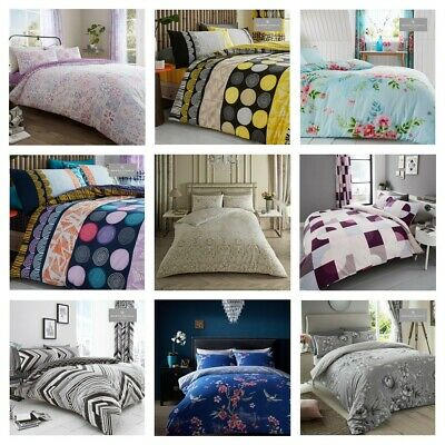 Printed Duvet Quilt Cover Bedding Set Reversible SINGLE DOUBLE SUPER KING SIZE A • 15.99£