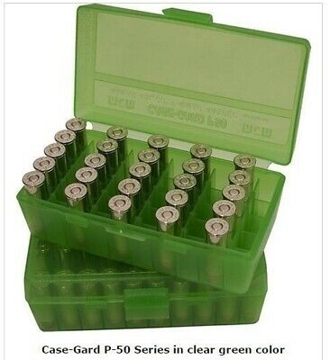 AU7.72 • Buy MTM Case-Gard AMMO BOX 50 ROUND FLIP-TOP 9MM 380 ACP P50-9M-16