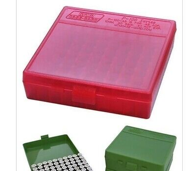 AU10.99 • Buy MTM Case-Gard 100 RD HINGED TOP AMMO BOX 9MM, 380 ACP CLR RED P-100-9-29