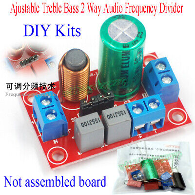 AU6.42 • Buy Ajustable Treble Bass 2 Way Audio Frequency Divider DIY Kits Crossover Filters