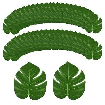 24 Green Leaves Artificial Hawaiian Palm Tree Leaves Tropical Party Table Decor  • 3.99£