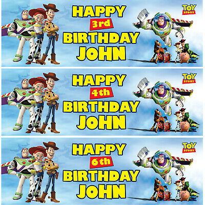 £12.99 • Buy 2 X Personalised Toy Story Birthday Banner Nursery Children Kid Party Decoration