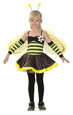 Girls Bumble Bee Insect Bug Animal Fancy Dress Costume Kids Outfit • 18.99£
