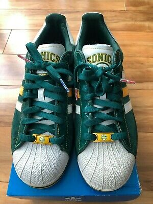 $ CDN125 • Buy Adidas NBA Seattle SuperSonics Superstar Shell Toe Shoes Size 9.5