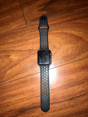 $ CDN154.84 • Buy Apple Watch Series 1 38mm Aluminum Case Black Nike Sport Band
