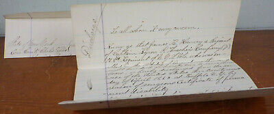 $199.99 • Buy 1863 Civil War Discharge Papers Buffalo NY 108th Regiment NYS Vols