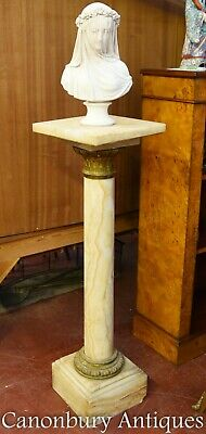 French Empire Marble Pedestal Table Column Stand • 445£