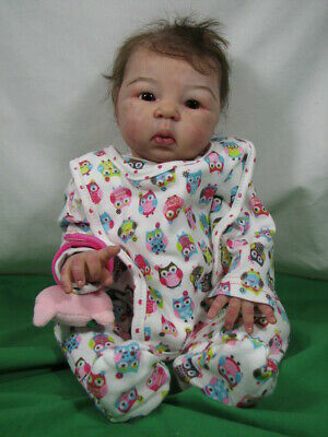 $ CDN499.99 • Buy Adrie Stoete  Suu Kyi  Reborn Asian Baby Doll 18  Tall 3 1/4 Pounds Rooted Hair