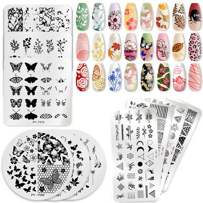 $0.99 • Buy PICT YOU Flower Butterfly Nail Stamping Plates Nail Art Image Templates Stencil