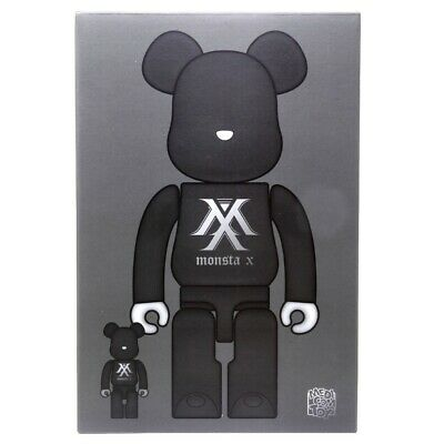$220 • Buy Medicom BE@RBRICK Monsta X 100% 400% Bearbrick Figure Set