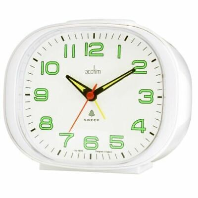 Acctim Avery Non-ticking Sweep Bell Beep Home Alarm Clock White • 12.99£