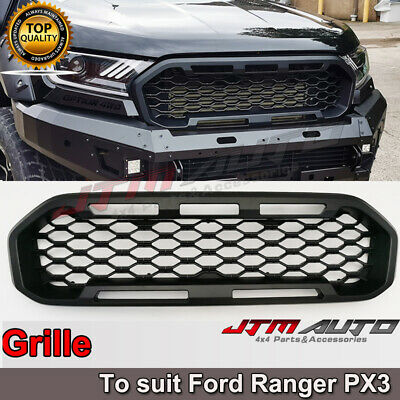 AU198.55 • Buy Front Mesh Grill To Suit Ford Ranger Matte Black PX3 2018-2021 XLS XLT