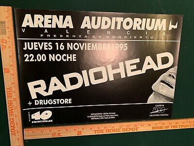 $70 • Buy Radiohead Valencia Spain Gig Concert Poster 1995 The Bends Tour RARE! Thom Yorke