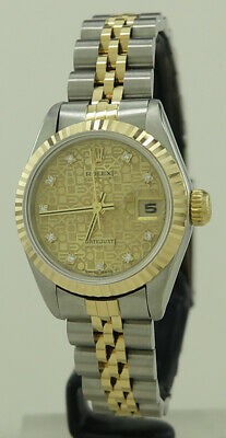 AU7000 • Buy Rolex 69173G Steel & Gold Auto 26mm Gold Diamond Dial Oyster Perpetual Datejust