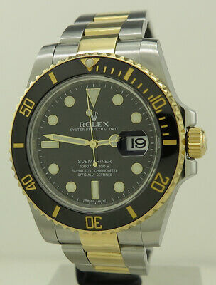 AU19800 • Buy Rolex 116613LN Steel & 18k Gold Auto 40mm Oyster Perpetual Black Dial Submariner