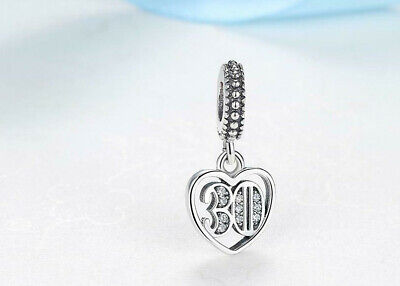 Genuine Pandora ALE 925 30th Years Of Love Anniversary Birthday 30 791287CZ  • 14.99£