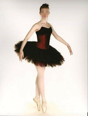 Red And Black Stunning Tutu Dance Costume Festivals Shows Plus Free Tutu Bag • 65£